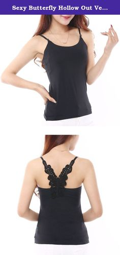 Sexy Butterfly Hollow Out Vest Tops Adjustable Straps Camisole Bottoming Shirt. Soft and flexible, the Wengift Lace Camisole adds a lacy, feminine flair to any ensemble. Use it to dress up low-cut tops or layer it with a sweater or cardigan, this dynamic tank is always in style. Relaxed and flattering, the camisole is comfortable and stretchy enough to keep the fabric in shape as you move. Thin, adjustable straps allow a perfect fit every time, no matter your body-type. BULLETS: 92%…