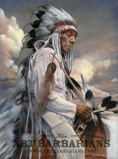 Native American Elder holding feathers while on horseback art Native American Paintings, Native American Wisdom, Native American Pictures, Native American Beauty, American Indian Art, Native American Tribes, Native American History, American Indians, Westerns