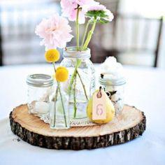 rondin de bois à acheter décoration centre de table mariage