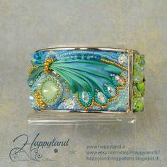 Le gioie di Happyland: Opaline cuff with Shibori