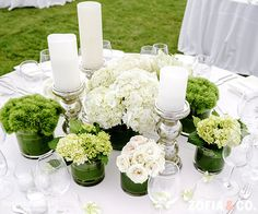 Monobotanical Bliss - Green and White Tablescape with Calla Lilies, Roses and Hydrangea for a Modern Nantucket Wedding.   Photo by Zofia & Co. - www.zofiaphoto.com   Floral Design by Soiree Floral - www.soireefloral.com #nantucket #soireefloral