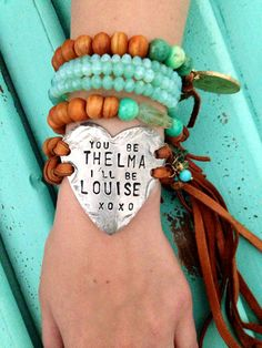 """""""You be Thelma, I'll be Louise"""" Bracelet"""
