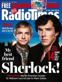 Radio Times front cover featuring Sherlock stars Benedict Cumberbatch and Martin Freeman. (PA)