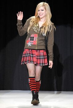 "Avril Lavigne attends her apparel brand ""AbbeyDAWN"" fashion show at Laforet Harajuku on September 14, 2008 in Tokyo, Japan."