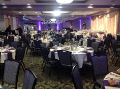 Canadian Honker Events at Apace, Rochester MN #weddings #decor #headtable #backdrop #paperlanterns #uplights #grandballroom