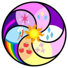 Updated and Vectorized version of: I added a moon for Luna's cutie mark and rearranged the sections. Now the sections are rotationally symmetrical according to pony type, with the multicolored mane. My Little Pony Party, My Little Pony Quiz, My Little Pony Characters, My Little Pony Pictures, Rainbow Dash, Mlp Quiz, Mlp Twilight, My Little Pony Wallpaper, Little Poni
