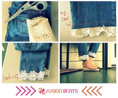Didn't we say denim goes with everything? How easy is this DIY. #DIY #DenimStudio #SS15 #FreeSpirit