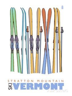Colorado Beaver Creek 16x24 Gallery Quality Metal Art Ski Colorful Skis