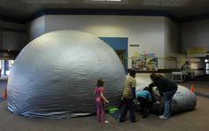 makeshift elementary school planetarium