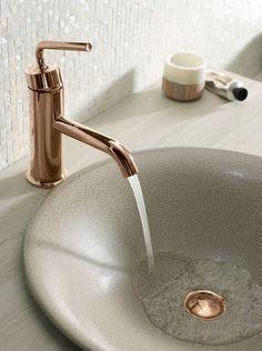 Rose Gold Polish Brass Rain Shower Head Exposed Shower Faucet Set - Bathroom sink faucet sets