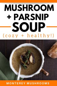 Wondering what kind of parsnip recipes are out there to use up some that you bought? Why not try this mushroom parsnip soup! It's a delicious mushroom soup recipe that the whole family will love. Best Mushroom Soup, Mushroom Side Dishes, Best Mushroom Recipe, Baby Bella Mushroom Recipes, Vegetarian Mushroom Recipes, Roasted Mushrooms, Stuffed Mushrooms, Parsnip Recipes, Mushroom Appetizers