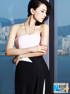 Gao Yuanyuan poses for COSMOPOLITAN HK (2) - People's Daily Online