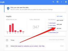 """How to find out everything Google knows about you 5/5/16  It's not easy to find your """"Web & App Activity"""" page. You must be logged in to Google to see it. Once logged in, go to """"https://history.google.com/history/"""" and click on """"all time."""""""