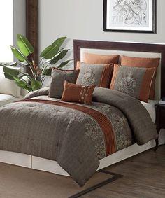 Love this Spice Grace Seven-Piece Comforter Set on #zulily! #zulilyfinds