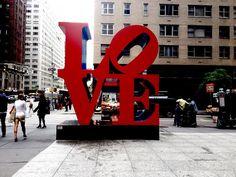 LOVE By Robert Indiana 6th Avenue, Manhattan, New York City