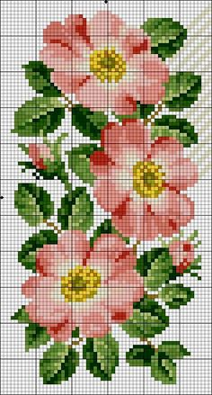 Brilliant Cross Stitch Embroidery Tips Ideas. Mesmerizing Cross Stitch Embroidery Tips Ideas. Cross Stitch Rose, Cross Stitch Borders, Cross Stitch Flowers, Counted Cross Stitch Patterns, Cross Stitch Designs, Cross Stitching, Cross Stitch Embroidery, Hand Embroidery, Floral Embroidery