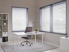 Made to measure Grey Sheer Horizon Blinds perfect for your office | Bolton Blinds
