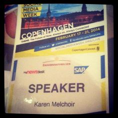 On the #smwbitcoin panel as the non-tech EP-politician. Glad to have Social Media Week back in Copenhagen for the second time around.