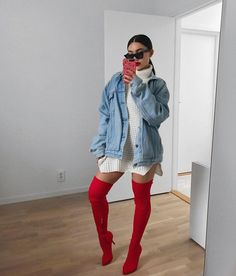 """24.1k Likes, 141 Comments - Amanda Khamkaew (@amandakhamkaew) on Instagram: """"Xmas vibes☃️ boots from @publicdesire get 20% off with code AMANDA20 valid until the end of the…"""""""