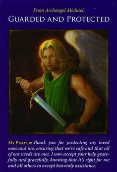 Archangel Michael is protecting you in this situation, as well as in other areas of your life... (keep reading: http://www.freeangelcardreadingsonline.com/2013/archangel-michael-guarded-and-protected/)