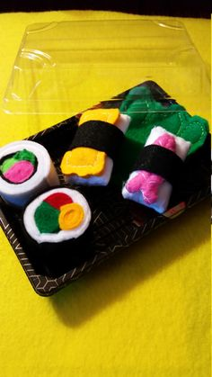 Sushi in Felt Cat Toy Gift Set  5 Different by KingdomoftheGeek