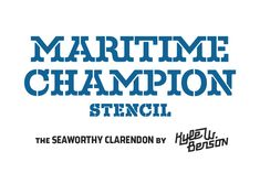 Maritime Champion Stencil was designed by Kyle Benson and published by Kyle Wayne Benson. Maritime Champion Stencil contains 4 styles and family package options. Business Brochure, Business Card Logo, Nautical Fonts, Nautical Table, Typography Fonts, Lettering, Sports Fonts, How To Make Stencils, Making Stencils