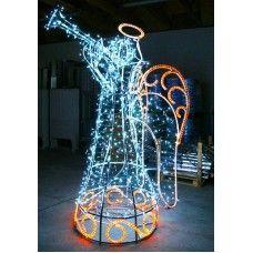 beleuchtete weihnachtsdeko-weihnachtsbeleuchtung außen figuren engel