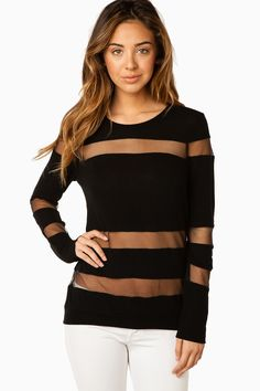 See Through Me Top in Black / ShopSosie Great for summer.