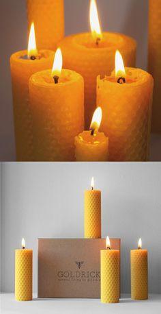 Goldrick Beeswax Candles Beeswax // Natural, Home and Handmade Candle Idea - Natural Living Pillar Beeswax Candles) Beeswax Candles, Pillar Candles, Handmade Candles, Natural Living, Natural World, Recycling, Packaging, Amazon, Box