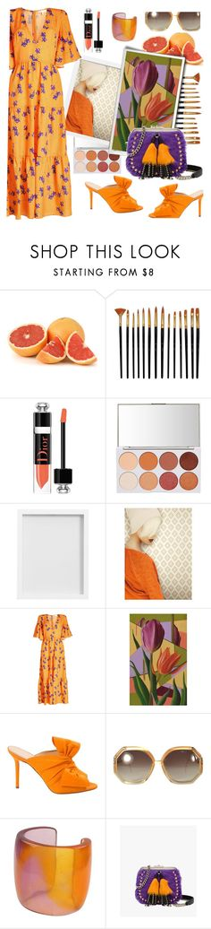 """Untitled #1085"" by m-jelic ❤ liked on Polyvore featuring Christian Dior, Pottery Barn, York Wallcoverings, Borgo De Nor, NOVICA, Charlotte Olympia, Ted Lapidus, Prada, orangeoutfit and popsoforange"