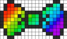 Rainbow Bow Perler Bead Pattern | Bead Sprites | Simple Fuse Bead Patterns