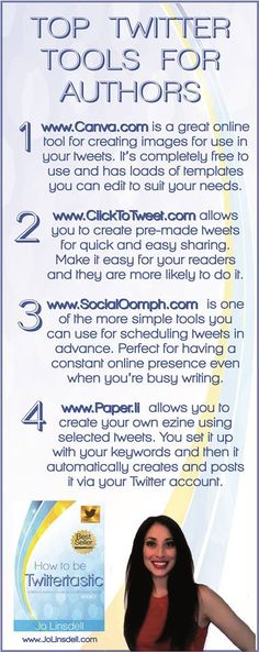 Top Twitter Tools for Authors - click here to read the full article: http://debralbutterfield.com/top-twitter-tools-authors/
