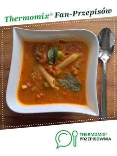 zupa jarzynowa jest to przepis stworzony przez użytkownika Aga L. Ten przepis na Thermomix<sup>®</sup> znajdziesz w kategorii Zupy na www.przepisownia.pl, społeczności Thermomix<sup>®</sup>. Thai Red Curry, Aga, Ethnic Recipes, Thumbnail Image, Food, Thermomix, Recipies, Essen, Meals