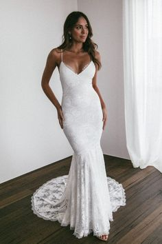 Grace Loves Lace Bohemian Wedding Dresses - Page 2 of 2 - Show Me Your Dress Bohemian Wedding Dresses, Dream Wedding Dresses, Bridal Dresses, Wedding Gowns, Lace Wedding, Modest Wedding, Wedding Dress Casual, Fitted Wedding Dresses, Sheath Wedding Gown