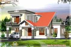 Kerala style modern contemporary house - 2600 Sq.Ft.