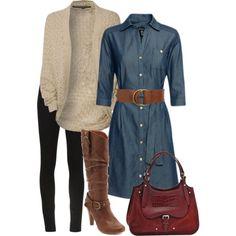 fall layers (Baukjen Alexa Shirt Dress $159) $159