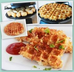 """Tater Tot Waffle.... another one for """"Kitchens Secret Weapon!"""" :)"""