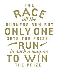 Run To Win Inspirational Quote 8x10 Art Print by AuraBowman, $19.00