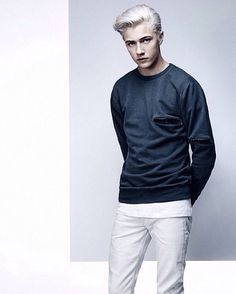 Harry Potter Next Generation, Bright Blue Eyes, Lucky Blue Smith, Look Man, Jaden Smith, Best Eyebrow Products, Pale Skin, Jack Frost, Smart Casual
