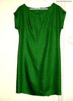 Φόρεμα Short Sleeve Dresses, Dresses With Sleeves, Tops, Women, Fashion, Moda, Sleeve Dresses, Fashion Styles, Gowns With Sleeves