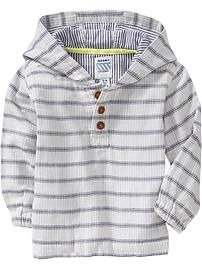 Striped Hooded Pullover for Baby