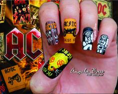 uñas AC/DC / AC/DC nails