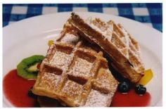 petite abeille, nyc. these waffles are to die for.