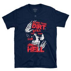 too fast for hell. Bad To The Bone, Skull, Mens Tops, Fashion, Moda, Fashion Styles, Fashion Illustrations, Skulls, Sugar Skull
