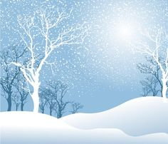 Winter Clip Art To Download: Pretty Winter Snow