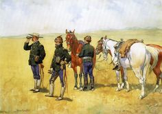 The Scouting Party by Frederic Remington Native American Models, Native American History, Frederic Remington, New West, Cowboy Art, Le Far West, Mountain Man, Illustrators, Old Things