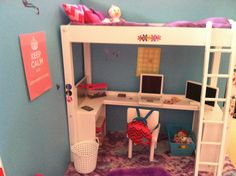 American Girl Doll house bedroom!