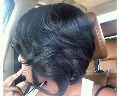 Hot Hair Styles, Medium Hair Styles, Natural Hair Styles, Medium Bob Hairstyles, Straight Hairstyles, Asymmetric Bob, Bob Cuts, Cut Life, Black Hair Care