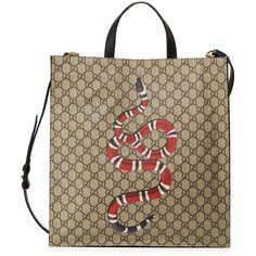 Gucci Snake GG Supreme Soft Tote Bag ( 1 5f07a3f2ef913