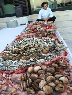 A typical seafood platter in Puglia